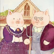 Pigs American Gothic