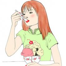 Eating Sundae