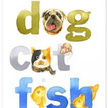 Dog Cat Fish Letters_500