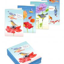 Birds Notecards Box