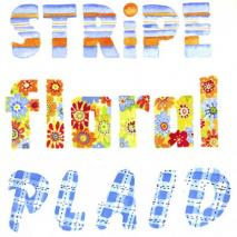 Stripe Floral Plaid Letters_500